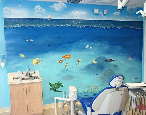 Рисунки океана на стене